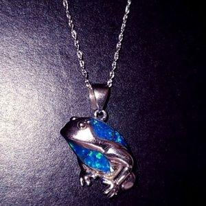 Jewelry - Ribbit! Genuine Blue Fire Opal & Sterling Silver!